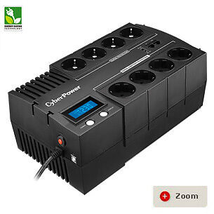 CyberPower BRIC-LCD 1200VA/ 720W (10A) Line Interactive UPS - (BR1200ELCD)-2 Yrs