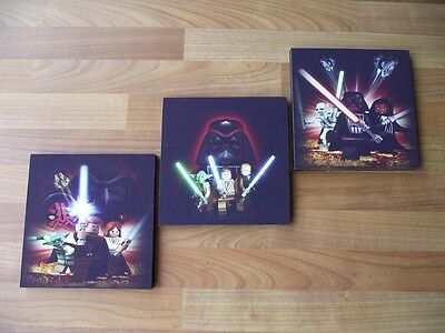 Lego Star Wars Canvas Wall Art Plaques/pictures Set - Free Postage