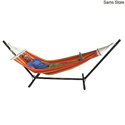 Hammock Garden Stand Lounger Swing Chair Bed Lounger Outdoor NEW