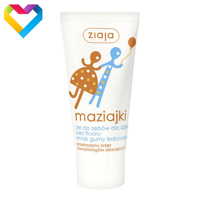 ZIAJA BABY MAZIAJKI TOOTHGEL BUBBLE GUM FLAVOUR FOR CHILDREN 50ml 01158