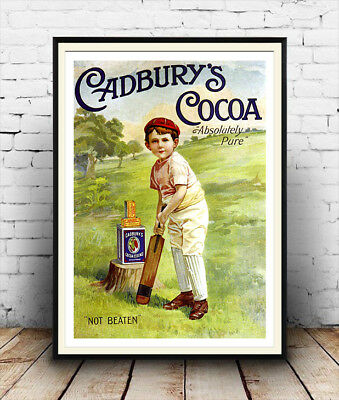 Cadburys cocoa : Reproduction Vintage advertising poster, Wall art.