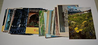 Lot huge of 94 unused postcards '80 french/english spelling, fair