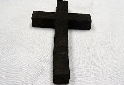 "ANTIQUE LATE ROMAN/EARLY BYZANTINE IRON CROSS 137 mm x 77 mm (5.4""x 3.03"") ~rare"