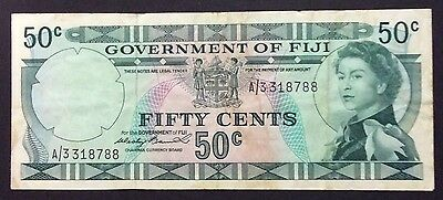 1971 Fiji 50 cent - A/3 318788 circulated condition