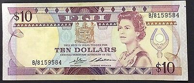 1986  Fiji $10 pick 84 a B/8159584 circulated condition