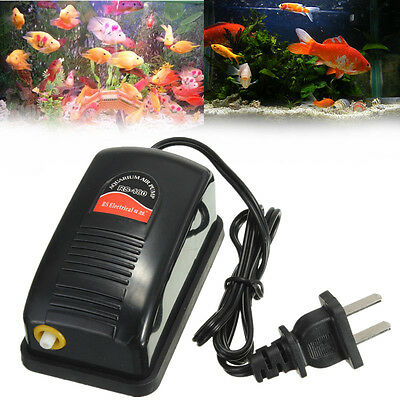 Efficient Energy Altra Silent Aquarium Oxygen Air Pump Fish Tank Air Pump
