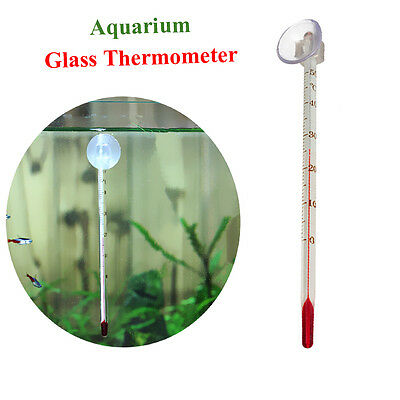 Aquarium Fish Tank Glass Thermometer Temperature Measurment