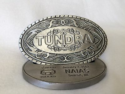 2007 NAIAS Toyota Tundra Belt Buckle with Stand Detroit debut