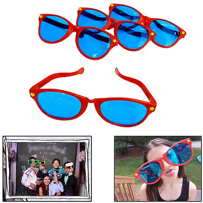 Plastic Jumbo Sunglasses Oversize Blue Lens Glasses Photo Booth Party Costume