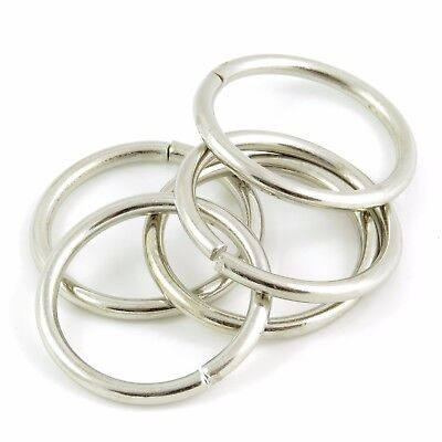 35mm 1 3/8 in. Chrome Metal Heavy O-Ring for Straps Bag Making Webbing (M022)
