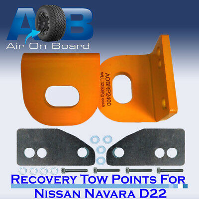 Tow Recovery Point Kit for Nissan Navara D22 H/D PAIR