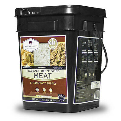 Wise Company Gluten Free 104 Serving Freeze Dried Meat & Rice