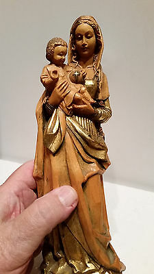 Anri 10 Inch Madonna and Child Hand Carved Wood