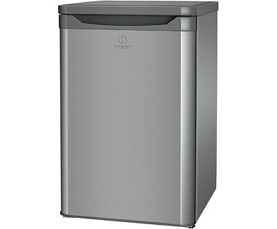 Indesit TLAA10S Free Standing 55cm 127 Litres A+ Fridge Silver New from AO