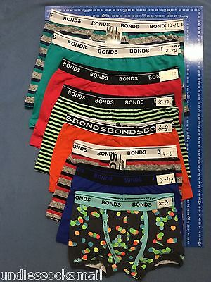 4 PAIRS OF BOYS BONDS KIDS UNDERWEAR  TRUNK Wirh fly or without fly SIZE 2 - 16