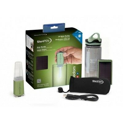 SteriPen Freedom Solar Rechargeable UV Water Purifier Kit +500ml BPA Free Bottle