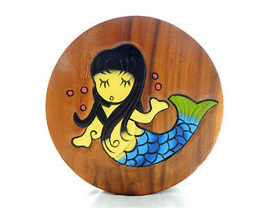 Childs Childrens Wooden Stool - Mermaid Step Stool