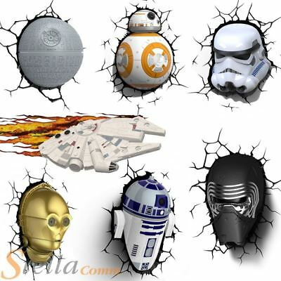 Star Wars Episode 7 LED 3D FX Deco Wall Mood Night Light & Sticker