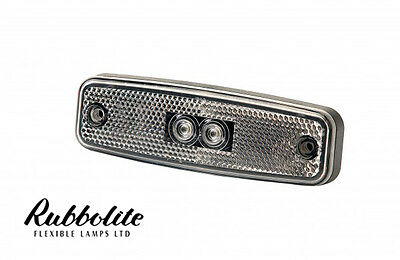 Rubbolite LED Clear Front Marker Lamp Light Indicator Truck Lorry Trailer Bus