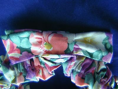 Longaberger Petunia Small Garter Fabric Bow Floral Basket Trim May Accessory