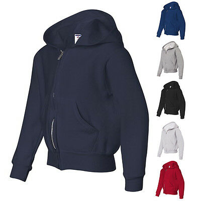 JERZEES Boys Girls Kids NuBlend Youth Full-Zip Hooded Sweatshirt 993BR