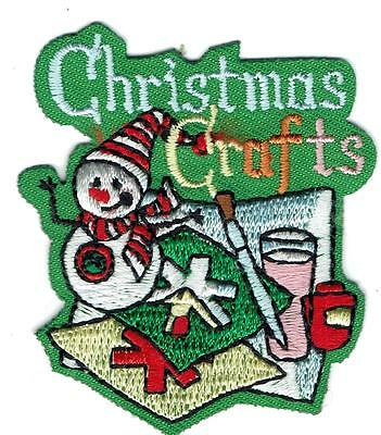 Girl Boy Cub CHRISTMAS CRAFTS green projects Patches Crests Badges SCOUT GUIDES