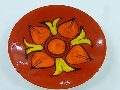 Vintage 1960S Poole Pottery Delphis Pattern Shallow Bowl Made In England