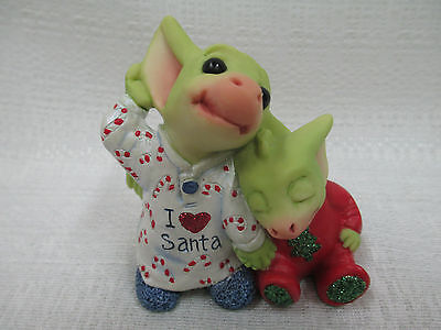 Whimsical World Of Pocket Dragons Listening for Santa Real Musgrave Christmas