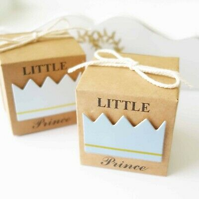 10x Little Prince or Princess Baby Shower Favour Boxes Birthday Bomboniere Gift