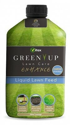 Vitax Enhance Green Up Liquid Lawn Feed 1 Litre 200 sqm Coverage NEW