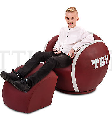 EXTRA LARGE RUGBY CHAIR - ARMCHAIR/GAMES/GAMING for KIDS, CHILDREN & ADULTS