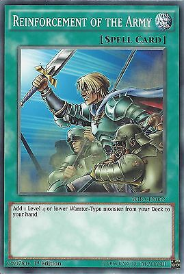 YU-GI-OH CARD: REINFORCEMENT OF THE ARMY - WIRA-EN052 1st EDITION