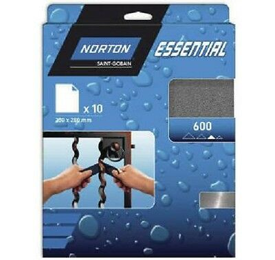 lot papier abrasif NORTON - Abrasif waterproof 50 feuilles