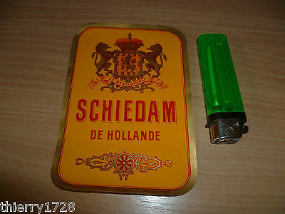 Etiquette Ancienne Schiedam De Hollande