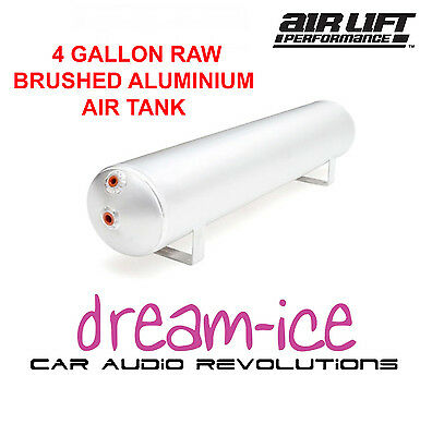AIRLIFT -11955  4 Gallon Raw Brushed Aluminium Air Tank 5 Port Raw Finish Tank