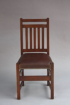 1910 Limbert Chair Arts & Crafts Craftsman Mission Seat Oak Wood Riveted ()