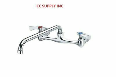 "8"" Wall-Mounted  Compartment Sink Faucet 10"" Spout"