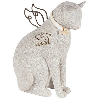 Cat Bereavement Faithful Angel Memory Memorial Pet Figurine Statue Loss Gift