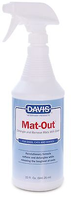 Davis Mat-Out Detangling Dog Cat Pet Spray 32 oz. 946ml