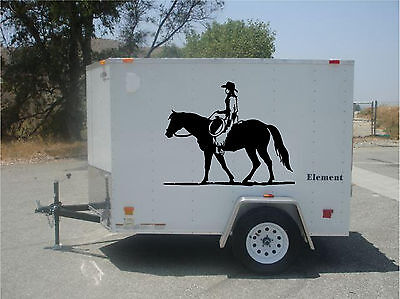 Extra LARGE GRAPHIC Horse Trailer RV Decal Stickers  40x50  Set of 2