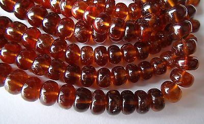 Hessonite Garnet smooth rondelle
