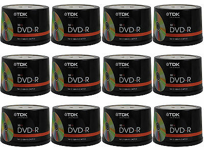 600 pack TDK Gold Series DVD-R 4.7Gb 16X Blank Recordable Discs Spindle