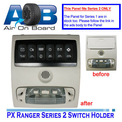 Switch Panel 6600RS-2 6x switch holder + switches for FORD PX RANGER Series 2