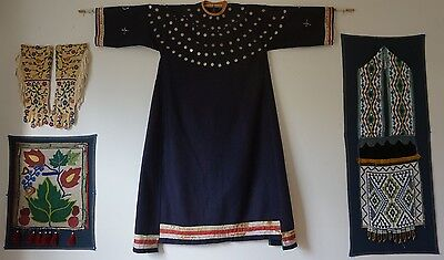 Rare Native American Santee Sioux Trade Wool Woman's Dress 184 Coins Pre 1900