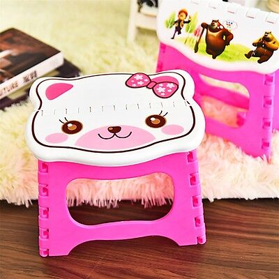 NEW Infant Baby Foldable Folding Step Stool Chair Kids Store Flat Outdoor FO
