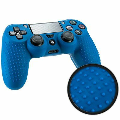 Custodia Cover Controller Joystick Sony Playstation 4 Ps4 Silicone Blu Grip