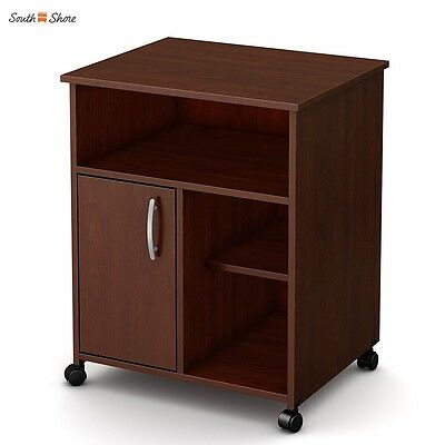 South Shore Axess Collection Printer Stand Supports up to 15-lbs in Royal Cherry