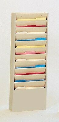 """11 Large Pocket Durham 405-75 Special Forms Literature Rack, 13""""W x 35""""H NEW"""