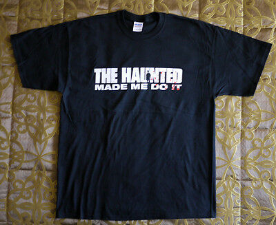 """The Haunted official T-shirt """"Made me do it"""" black New (XL)"""