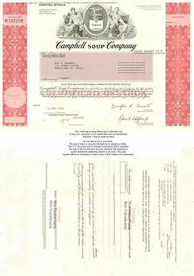 Campbell Soup Company   tomato stock certificate share